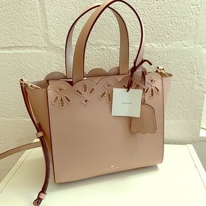 Kate Spade bag NEW satchel rose pudre